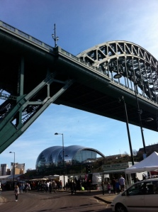The Tyne Bridge with the Sage in the Background