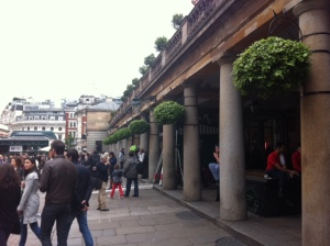 Covent Garden where Nell once thought of her mum 'alone in the grey streets of Covent Garden, where the plague raged most  fiercely'