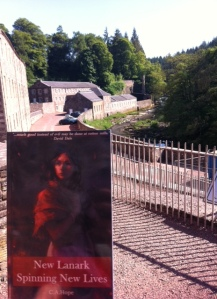 New Lanark - Spinning New  Lives. Reading the book on site!