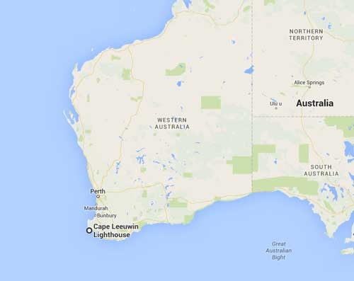Augusta - and Cape Leeuwin - inspiration for Point Partageuse  and the lighthouse there? http://www.capeleeuwinlighthouse.com/