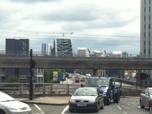 Looking at the Tyne Bridge from 55Degrees North