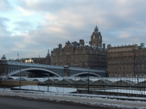Waverley station  - and the view across to the old town
