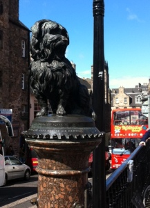 The statue in memory to the lovely Greyfriars Bobby