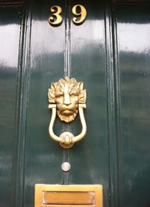 Ooh is this the famous door knocker?