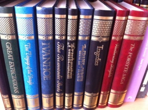 Classic books with spines I can run my finger along