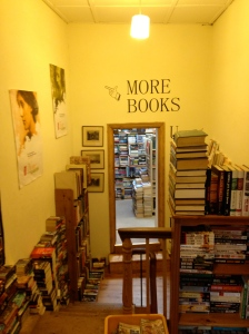 Suddenly a vision appeared. It said ' More books this way' I followed it straight away