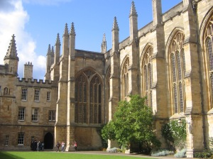 An example of the stunning university architecture - New College Oxford Chapel courtesy of Wikipedia
