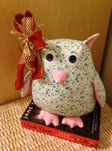 Eeven the booktrail owl gets a little festive makeover. Oh what's that you've got? A book for me? Why thank you x