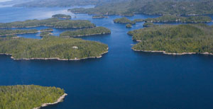 Broughton archipelago where the book takes much of its inspiration from. Image courtesy of Wikipedia