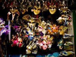 Venetian masks - image courtesy of Wikipedia