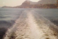 The ferry leaves isolation in its wake