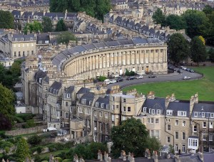 The dark ,twisting streets of Bath - image courtesy of Wikipedia