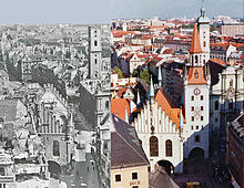 Bombing damage to the old town in Munich - image courtesy of Wikipedia