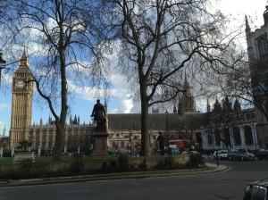 View of Big Ben from Parliament Square