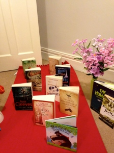 The books pose on the red carpet