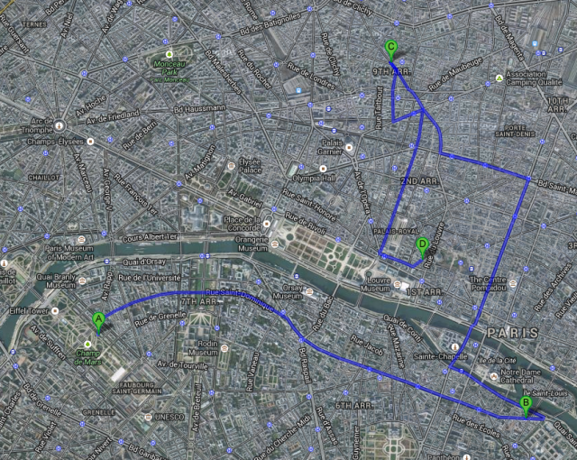 See Paris through the eyes of Victor Legris in 1889! map courtesy of Google maps
