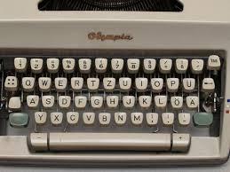 An old fashioned typewriter -image courtesy of Wikipedia