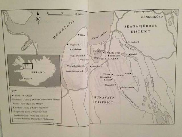 The map in the book detailing the main points of interest of the story. And stopovers for a booktrail with a difference!
