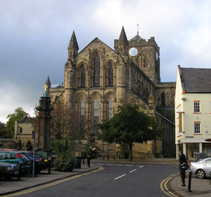 Hexham Abbey or is this Corham Abbey?