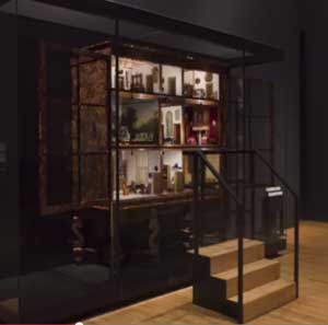 The real miniature house on display at the Rijksmuseum