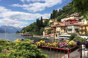 Aah the views! Lake Como  as seen by author Erica James.