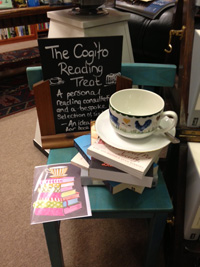 Cuppa and a cake in a bookshop! I think I might move in here...