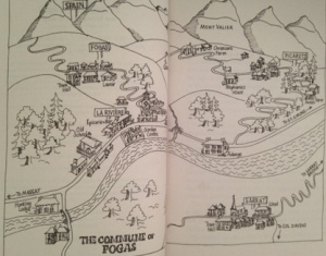 The map of Fogas featured in the book