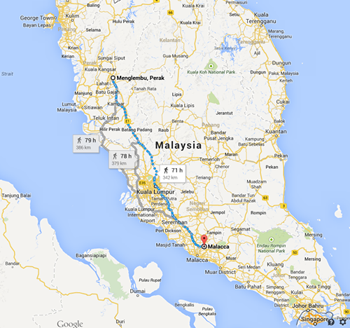 The journey Lydia faces from Malacca to Ipoh in search of her husband and children