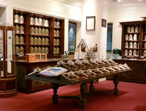 Just some of the tea department at Fortnum and Mason - where the Queen buys her tea from  - so tea by royal appointment!