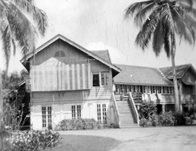 A typical malayan house where Dinah once lived -  -I borrowed this from her scrapbook