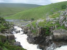 A place known as Cauldron snout in the North Pennines. Is this similar to the view the ladies saw from the Hope Crag?