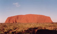 Ayers Rock or Uluru is at the heart of Australia's red centre