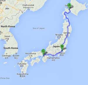 Sapporo, Tokyo and Tarazuka