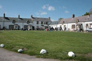the square at Low Newton with the Ship inn in the corner