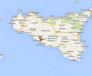 Sicily - setting for Vigata - which is actually the home town of the author - Port Empedocle