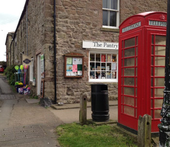 The phone box and the famous pantry where Kate loves the onion marmelade and Francesca's Figgy Pear relish