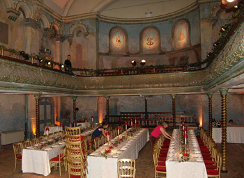 The hall is sometimes used for weddings now - courtesy of Wikipedia