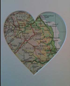 Heart map courtesy of  Queenie herself
