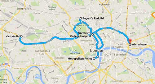 The tangled web of London streets where killers are on the loose and Jack is back