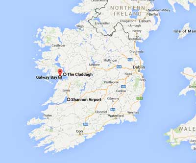 The Claddagh, Shannon airport and Galway Bay - Kilbrook is based around this area - idyillic and calm!