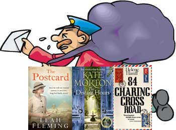 Some books about letters and post - plus a very deluged postman!