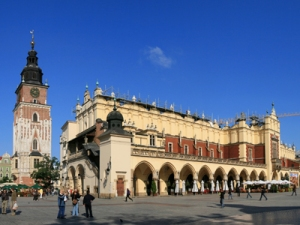 Sukiennice - the cloth hall of Krakow old town and the most recognisable symbol of the town.