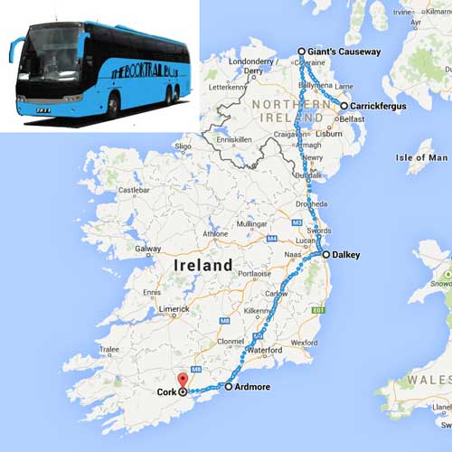 The tour around Ireland starting with the Birkenhead to Belfast part of the journey...