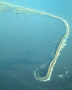 Spurn Point from the air as seen on Wikipedia