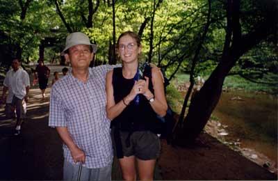Making friends in South Korea - pic by Jen Barclay