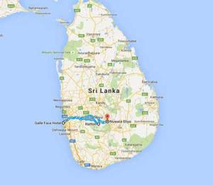 The teardrop shaped island that was Ceylon (Present Day Sri Lanka)